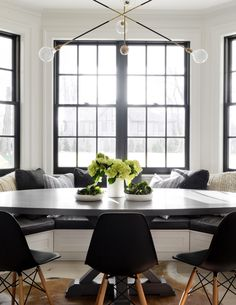 A Cozy Black And White Breakfast Nook | House Tour On Coco Kelley