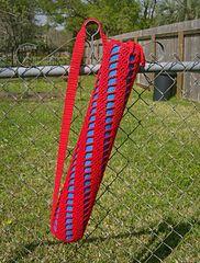 Ravelry: Spiral Ladder Yoga Bag pattern by Amanda Pace