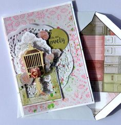 """Hello everyone! How beautiful are the colours and images, it's just so pretty! """"Remember this Moment"""" Layout A close up… Kaisercraft Products : Wallpaper Teal Colors, Colours, Paper Doilies, Rose Cottage, Bird Cage, Creative Cards, Clear Stamps, Hello Everyone, Dusty Pink"""