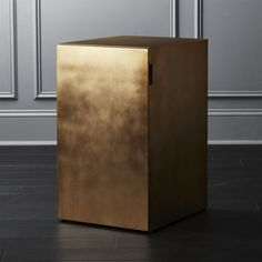 On sale. Gold filing cabinet with a hidden agenda. Open its clean, flat front door at the subtle side inset to reveal letter or legal hanging files and a drawer for additional storage. Minimalist at its office finest. Office Furniture File Cabinets, Modern Home Office Furniture, Modern Home Offices, Media Furniture, Home Furniture, Furniture Ideas, Filing Cabinets, Moving Furniture, Studio Furniture