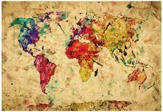 Mapa-múndi, vintage  Pôster