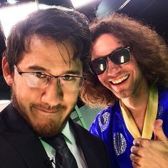 """Markiplier and Danny Sexbang from """"Hire My Ass"""" Famous Youtubers, British Youtubers, Markiplier, Pewdiepie, Film Theory, Youtube Gamer, Septiplier, Dan And Phil, Celebs"""