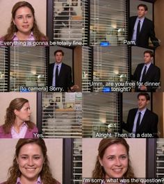 Jim and Pam -one of my favorite moments. She looked so happy!
