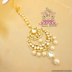 Online Shopping for Elegant Kundan Maang Tikka | Maang Tikkas | Unique Indian Products by Sanvi Jewels Pvt. Ltd. - MSANV44560885130