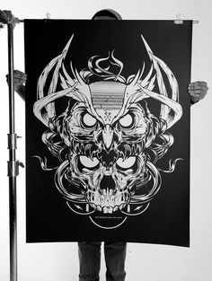 058 - Oversized Silk Screen Prints by Joshua M. Smith, via Behance