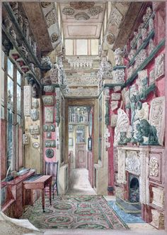 Architectural Drawings › Working in Soane's Office - The Little Study