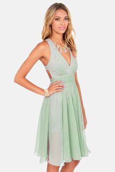 Sage Green Dress - vintage inspired bridesmaids dresses