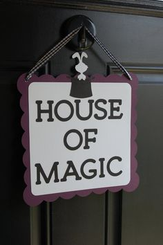 Magic Door Sign Magic Party Supplies Magic Welcome by GiggleBees Magic Birthday, 5th Birthday Party Ideas, Birthday Games, Dad Birthday, Magician Party, Magic Theme, Evie, Party Time, Party Supplies