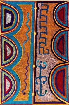 // Boxer Milner, Rainstorms and Rainbows at Oolaign, Sturt Creek, 2000 Australian Aboriginal Art Aboriginal Painting, Aboriginal Artists, Dot Painting, Painting & Drawing, Indigenous Australian Art, Indigenous Art, Arte Popular, Art Graphique, Native Art