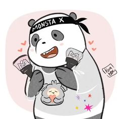 Monsta x ❤ Cute Illustration, Character Illustration, We Bare Bears Episodes, K Pop, Chibi, Otaku, Cute Couple Comics, Monsta X Hyungwon, Kihyun