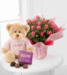 Mother's Day Gift. Sweet Memories Mother's Day Mini Rose with Bear and Chocolates - Premium - FedEx.  http://shrsl.com/?~3idk  Only 49.90 plus delivery.