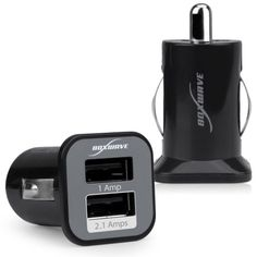 BoxWave Dual Micro High Current Amazon Kindle Fire HDX 70 Car Charger  Universal 2Port Dual USB Car Charger for Amazon Kindle Fire HDX 70 21 Amps  Black *** Find out more about the great product at the image link.