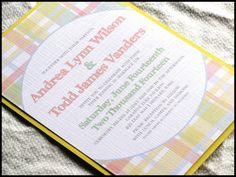Country Picnic Plaid Wedding Invitation Set by by RunkPockDesigns, $2.00