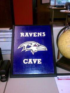 Baltimore Ravens Cave Wall Decor. $25.00, via Etsy.