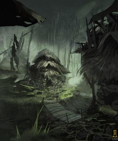 Deserted Village by Concept-Art-House