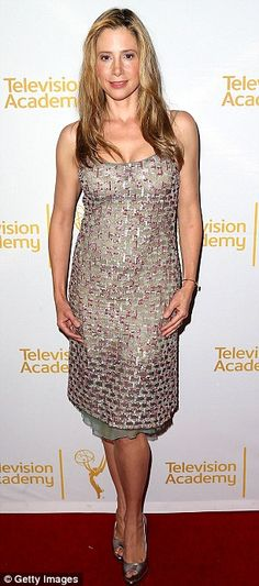 Glamour girls: Mira Sorvino (left) and Jen Lilley (right) also add a touch of style to the...
