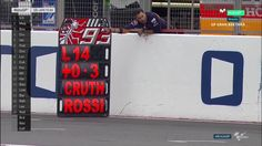 British GP Race - Marc Marquez Pit Board (Viñales has already escaped)