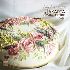 paint with knife palette Creation edible painting flowers art. paint with knife palette Creation edible painting flowers art. Gorgeous Cakes, Pretty Cakes, Amazing Cakes, Fancy Cakes, Mini Cakes, Cupcake Cakes, Owl Cakes, Fruit Cakes, Ladybug Cakes