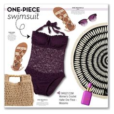 """""""One-Piece Swimsuit from Target"""" by kellylynne68 ❤ liked on Polyvore featuring Mossimo, San Diego Hat Co., The Beach People, Billabong and tarte"""