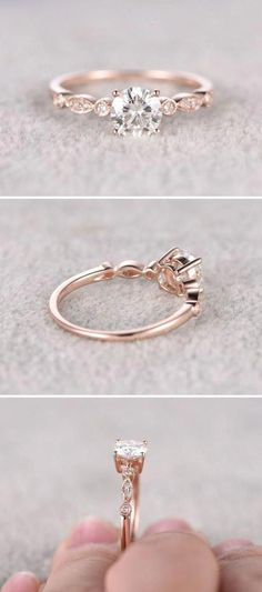 This Princess Cut Pink morganite engagement ring set,Micro pave diamond wedding rings,solid rose gold,unique split shank band is just one of the custom, handmade pieces you'll find in our engagement rings shops. Wedding Rings Simple, Wedding Rings Rose Gold, Wedding Rings Vintage, Wedding Rings For Women, Bridal Rings, Unique Rings, Wedding Jewelry, Trendy Wedding, Gold Jewelry
