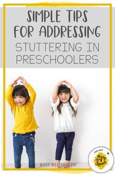 Do you work with preschoolers who stutter? Check out these simple tips for SLPs to address stuttering in preschool students.