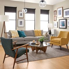Room & Board – Jasper Sofas – Modern Sofas & Loveseats – Modern Living Room Furniture – Home Trends 2020 Navy Living Rooms, Living Room Interior, Home Living Room, Living Room Designs, Room And Board Living Room, Blue And Yellow Living Room, Accent Chairs For Living Room, Living Room Decor Yellow, Coastal Living