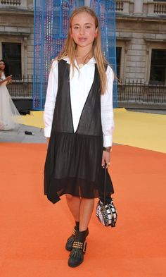 British royal Lady Amelia Windsor rocked studded booties for the Royal Academy of Arts Summer Exhibition preview party in London on June 7.