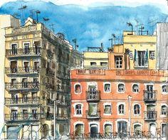 La Barceloneta - Sketch-Barcelona