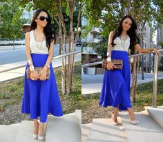 outfit idea with a flowy, colorful maxi