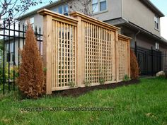 - - Pergola Bioclimatique Suspendue - Pergola Walkway Attached To House - Pergola Bois Toile Privacy Fence Panels, Garden Privacy, Privacy Screen Outdoor, Privacy Landscaping, Backyard Privacy, Backyard Fences, Landscaping Ideas, Paving Ideas, Arizona Landscaping