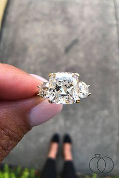 Engagement Solitaire, Yellow Diamond Engagement Ring, Cushion Cut Engagement Ring, Engagement Ring Settings, Diamond Wedding Rings, Bridal Rings, Solitaire Rings, Wedding Bands, Diamond Rings