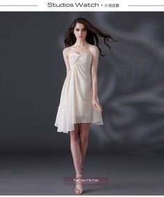 You want an angel came to me like your white dress make me intoxicated.weetheart Strapless knee-LengthChiffon Beading Prom Dress XL022303.http://www.clothing-dropship.com