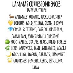 Lammas correspondences! 🌾🍐🕯 Wiccan Sabbats, Wicca Witchcraft, Paganism, Wicca Holidays, Witchcraft For Beginners, Eclectic Witch, Magical Thinking, Baby Witch, Season Of The Witch