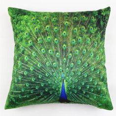 Vintage-Peacock-Feathers-Flocking-Home-Decor-Throw-Pillow-Case-Cushion-Cover-18