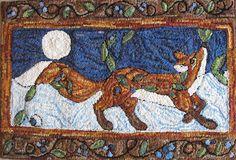 Moonlight Fox - I love the border on this rug!