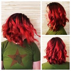 I got 99 problems. But my hair ain't one! Hair by Deona Hurd. Positive Outlook On Life, 99 Problems, Hair Flip, Dark Roots, Long Bob, Lob, Cut And Color, Red Hair, Love Her
