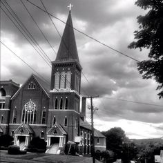 St. Charles Church, Pittsfield, Mass. #Berkshires  The church we attended while growing up.  My sister was married here.