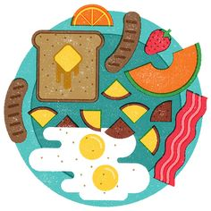 Food Editorial Illustrations by Mikey Burton