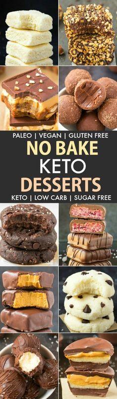 Easy Low Carb Keto No Bake Desserts #Paleo #Vegan #SugarFree
