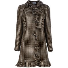 RED VALENTINO Houndstooth coat ($1,090) found on Polyvore