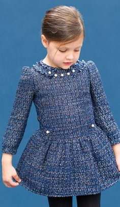 Vestidos de tela gruesa Oh My Dress, Baby Dress, Kids Winter Fashion, Kids Fashion, Dresses Kids Girl, Girl Outfits, Dress Anak, Victoria Fashion, Kids Frocks
