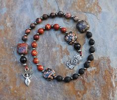 Beltane Fire Element Pagan Prayer Beads by IndigoDesertMoon