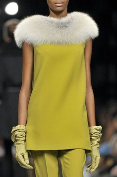Ermanno Scervino...I LOVE this, but I no longer like the idea of real fur...I can only hope that this is not :/  The only creatures that should wear fur are the ones that have it growing on them!