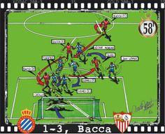 RCD Espanyol, 1 - Sevilla FC, 3 ; 1-3, Carlos Bacca, 58'