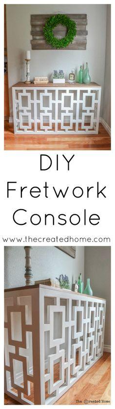 The Chic Technique: DIY Fretwork Console