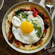 Polenta w/ Mushrooms   foodraf
