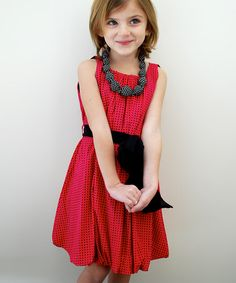 This Pink Polka Dot Palais Dress - Toddler & Girls by Atelier by Sophie Catalou is perfect! #zulilyfinds