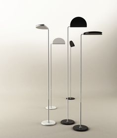 Haluna is a floor lamp designed by Bruno Gecchelin in 1975 and is now being re-launched by the Italian design company Skipper