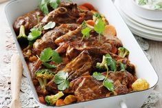 Have dinner on the table super fast with clever shortcuts and this easy Indian lamb recipe.