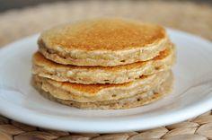 Em's Famous Overnight Oatmeal Cinnamon Pancakes 2 cups quick oatmeal cup whole wheat flour 1 teaspoon baking soda 1 teaspoon baking powder 1 teaspoons cinnamon teaspoon ground nutmeg cup honey 2 large eggs 1 teaspoon vanilla 2 cups buttermilk Oatmeal Pancakes, Buttermilk Pancakes, Breakfast Pancakes, Pancakes And Waffles, Breakfast For Dinner, Breakfast Dishes, Breakfast Recipes, Oatmeal Yogurt, Oat Muffins